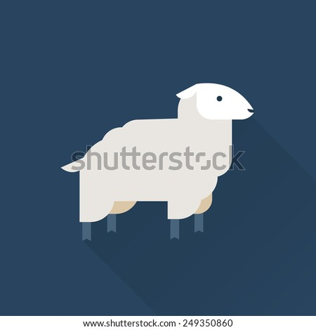 sheep vector icon - stock vector