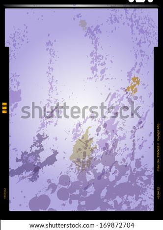 sheet film negative, picture frame, vector illustration - stock vector