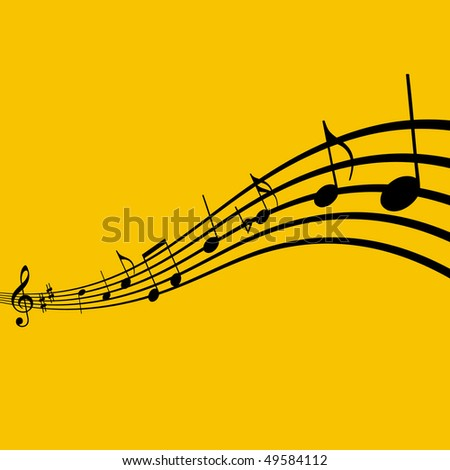 Sheet music - stock vector