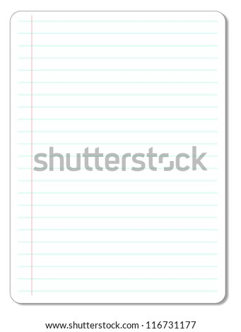Sheet of Lined Paper.