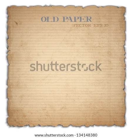 Sheet of old cardboard. Vector EPS10 - stock vector