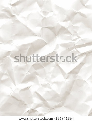 Sheet of old crumpled paper, crumpled paper texture, vector - stock vector