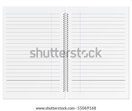 Sheet of paper notebook. - stock vector