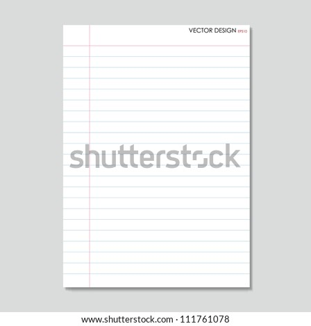 Sheet of paper. Paper page with curl, vector illustration. - stock vector