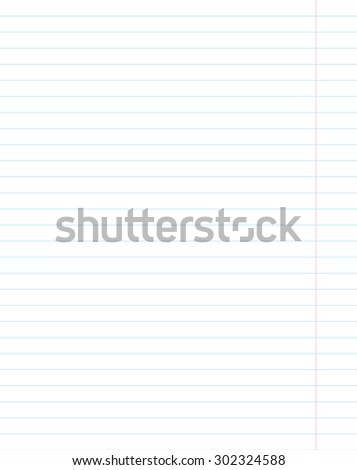 Sheet Paper Notebook Horizontal Lines Stock Vector 206241118 ...