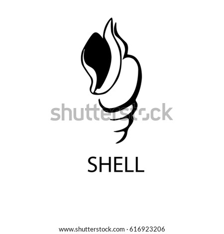 shell logo vector illustration on white stock vector 616923206 rh shutterstock com shell logo vector art shell oil logo vector