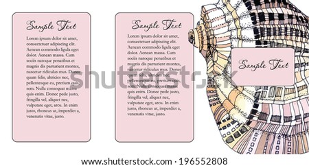 shell vector background. Flyer design