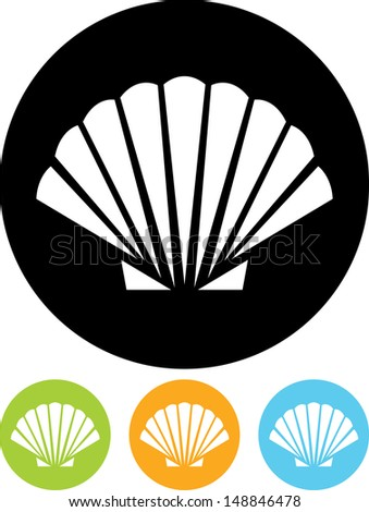 Shell vector icon isolated  - stock vector