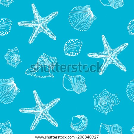 Shells seamless pattern
