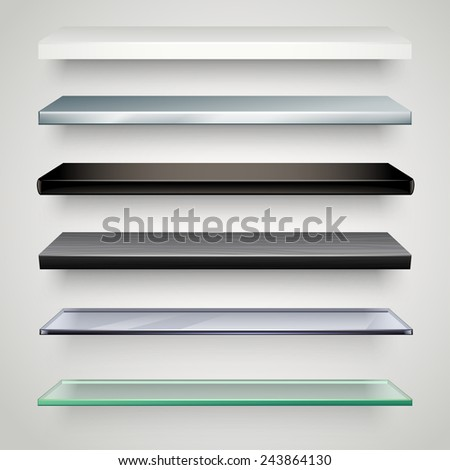shelves collection  - stock vector