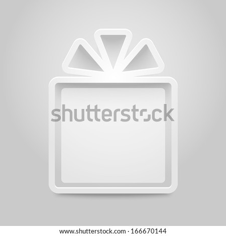 Shelves in shape of gift box. Vector illustration - stock vector
