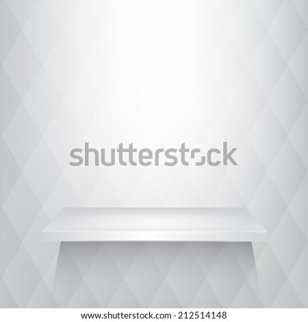 shelves white and soft light on the wall eps 10 vector