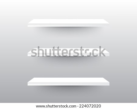 shelves with background - stock vector
