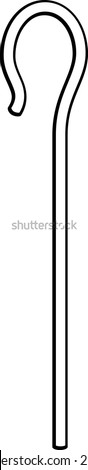 shepherd crook - stock vector