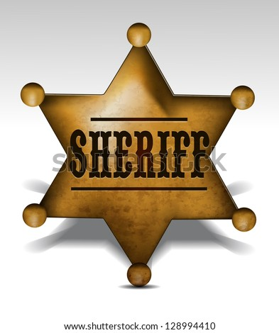 Sheriff Badge eps10 - stock vector