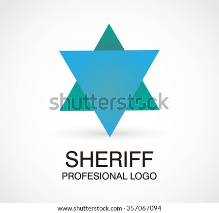 of star abstract vector and logo design or template triangle police ...