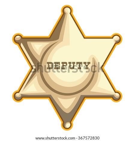Sheriff Badge Vector - stock vector
