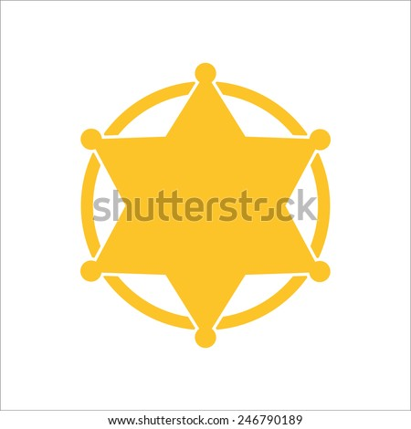 sheriff badge vector illustrator stock vector hd royalty free rh shutterstock com sheriff badge clipart vector sheriff badge vector free download
