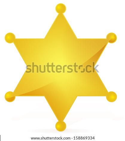 Sheriff's Badge (vector icon for sheriff's star, wild west, western, police, deputy, authority concept) - stock vector