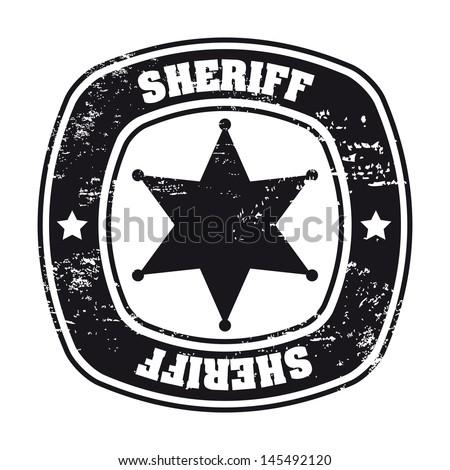sheriff sela over white background vector illustration - stock vector