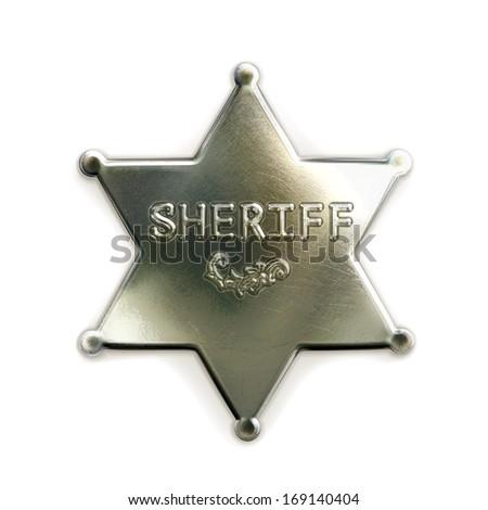 Sheriff star icon - stock vector