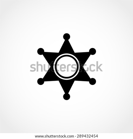 Sheriff star Icon Isolated on White Background - stock vector