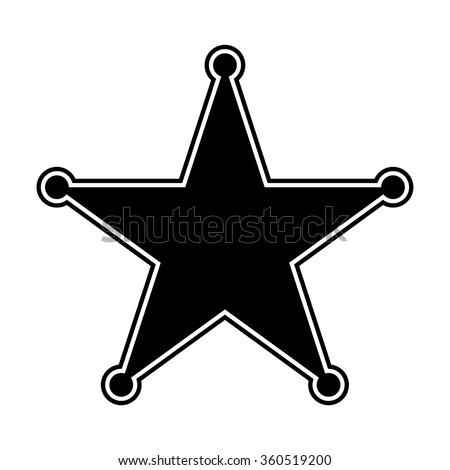 Sheriff Star Vector