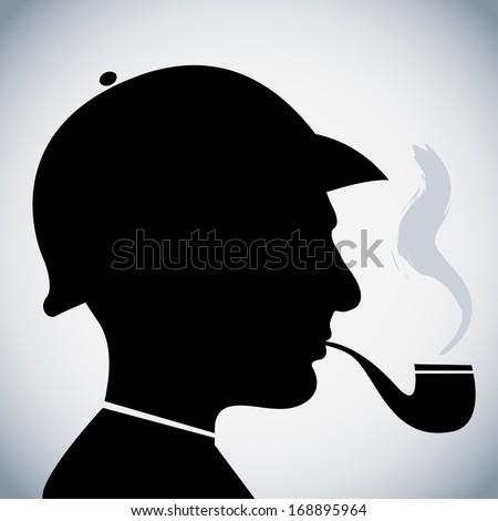 Sherlock Holmes - stock vector