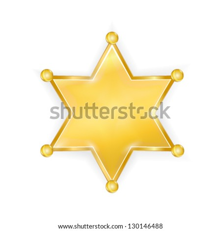 sherrif star badge - stock vector