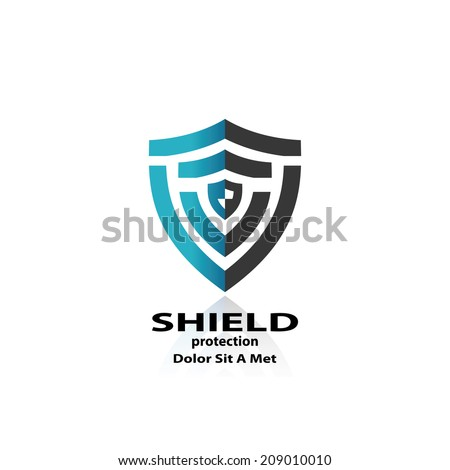 shield. abstract symbol of security. vector eps10 - stock vector