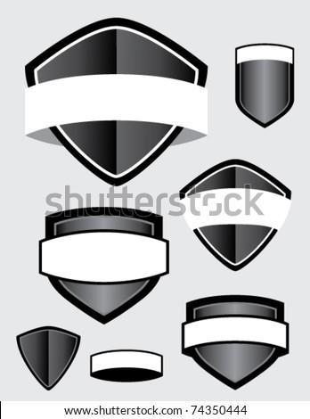 shield collection - stock vector