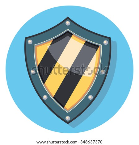 shield flat icon in circle