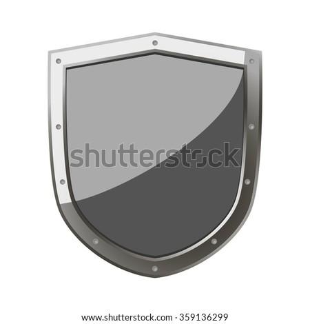 Shield Protection Defense Shield Symbol Strength Stock Vector