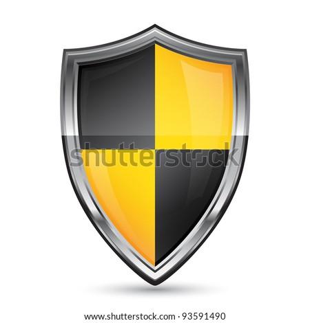 Shield icon - stock vector