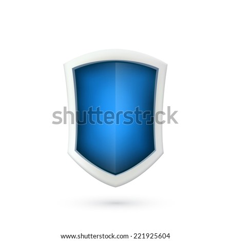 Shield icon isolated on white background. Logo. Vector illustration - stock vector