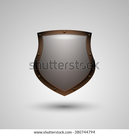 Shield icon. Vector illustration contains transparent objects.