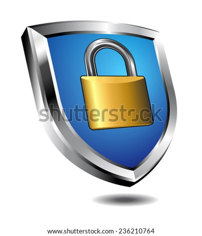 Shield Lock - stock vector