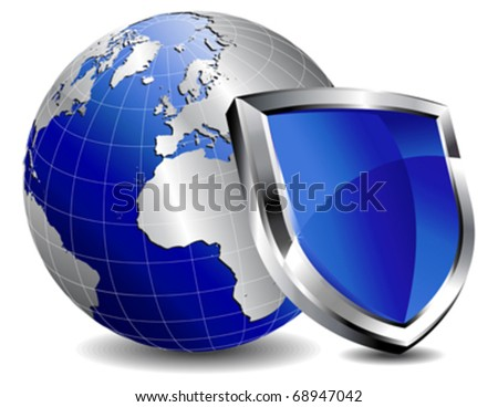 Shield Protection - stock vector