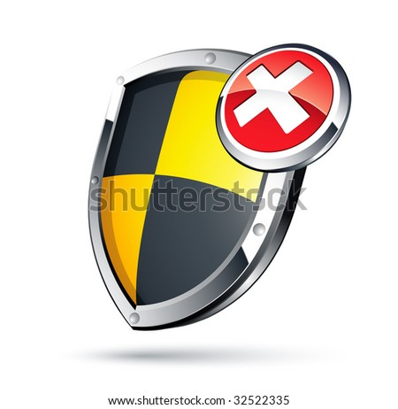 shield security concept - stock vector