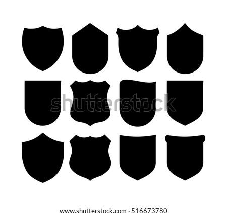shield set vector stock vector hd royalty free 516673780 rh shutterstock com vector shield logo vector shield shape