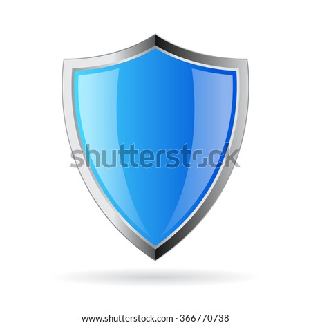 Shield vector icon illustration isolated on white background - stock vector