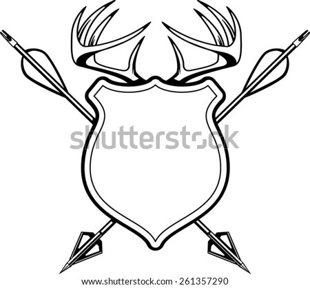 Hunting Arrows Drawing Crossed Hunting Arrows And