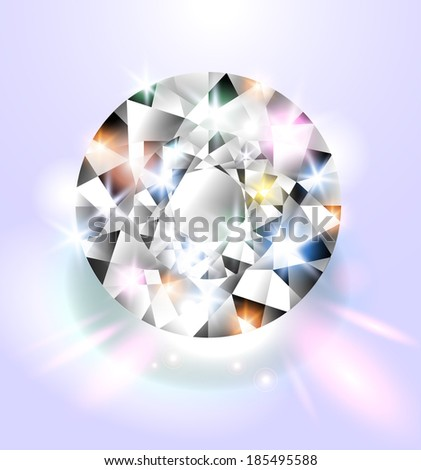 Shimmering diamond background  - stock vector