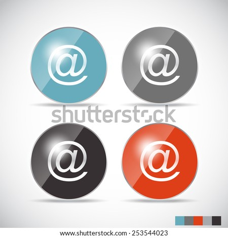 Shine Glossy Computer Icon Vector Illustration EPS10