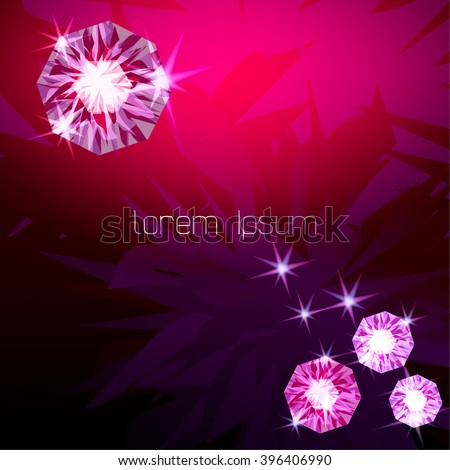 Pink rhinestone background