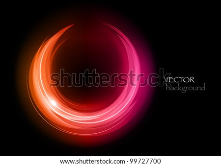 shine rounded symbol on the dark background - stock vector