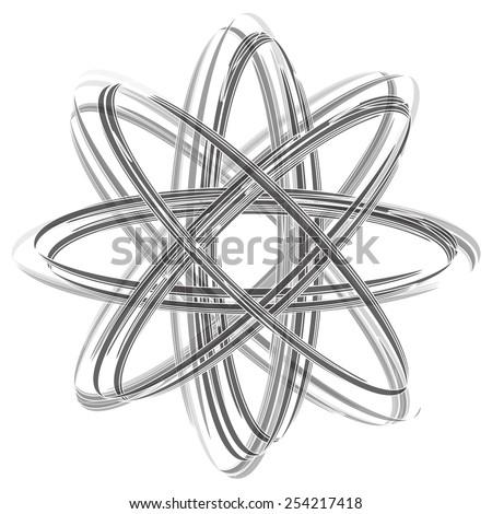 Shining atom vector on white background - stock vector