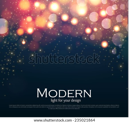 Shining bokeh illustration. Vector illustration - stock vector