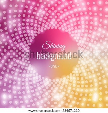 Shining bright circular pattern of sequins - stock vector
