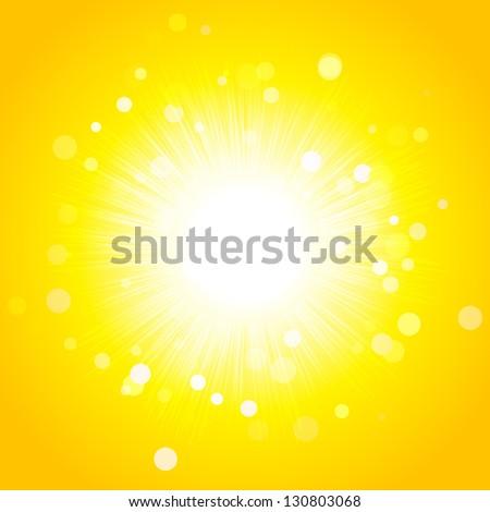 Shining bright sun - stock vector